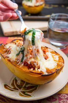 Lasagna Stuffed Spaghetti Squash