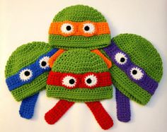 Free Crochet Patterns For Ninja Turtle Hat : tmnt crochet hat... I may have to make this for the boys ...