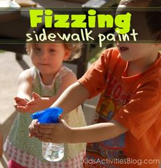 Fizzing Sidewalk Paint - Kids Activities Blog