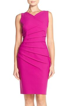 Alex Evenings Pleat Jersey Sheath Dress available at #Nordstrom
