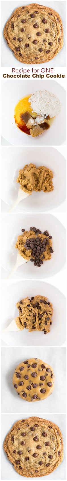 Easy recipe for ONE big Chocolate Chip Cookie