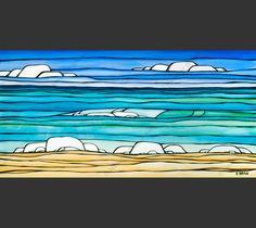 Daydream Sea by Hawaii Surf Artist Heather Brown. HeatherBrownArt.com