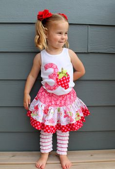 Strawberry Shortcake birthday outfit? LOVE IT!
