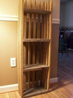 Made out of tobacco sticks think I found my new bookshelf idea!