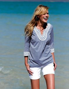 Super cute beachy outfit perfect for this summer.