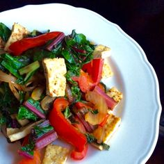 From our blog: Vegans on Phase 2 – REJOICE. This Chard and Tofu Stir Fry recipe…