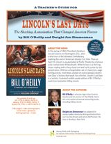 Lincoln's Last Days teacher's guide with pre-reading activities, discussion suggestions, and curriculum connections aligned with Common Core State Standards http://www.teachervision.fen.com/presidents/literature-guide/72751.html #CCSS #Lincoln #ushistory #presidents #midleved #literature