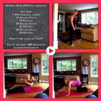 Monday 30.12.2013 Daily #Workout For time: 5 Min interval cardio 45 Hollow Rocks  50 Burpees 30 Hollow Rocks 35 Burpees 20 Hollow Rocks 20 Burpees Then: 5 min Crouch Plank - this is it!! End of 30 days of crouch planks Follow us for new #dailyworkouts everyday and new 30 day challenges each month