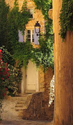 The picturesque village of Barroux, France