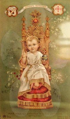 Antique Card Baby Jesus Holy Card Italian