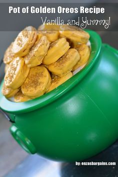 Pot of Golden Oreos Recipe - St. Patrick's Day and Rainbow Party FAVES!