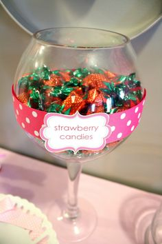 Perfect candy to serve at Strawberry Shortcake Party