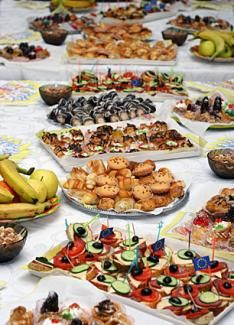 finger foods for wedding reception.