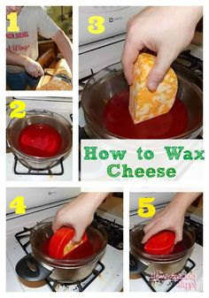 how to wax cheese for storage without refrigeration. Who knows maybe I'll need this someday.