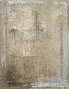 Nice and Simple, 2013 - Original Artwork Modern Abstract Painting Wall Decor Free Shipping Beige Brown Grey Tan Neutral White 11x14 Canvas