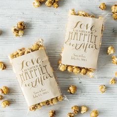 Personalized Love Laughter Caramel Popcorn