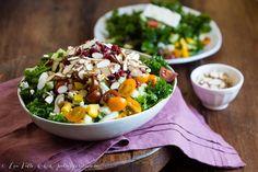 Marinated Kale Salad. #paleo #veganoption