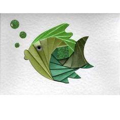 A6 Iris Folding Template/Pattern x2:Fish
