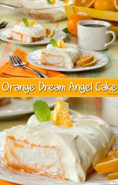 Orange and cream come together in this yummy and light Orange Dream Angel Cake. Every bite is so refreshing!