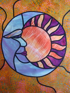 Opposites Attract art quilt by Robbie Payne.  Art Quilts Around the world.