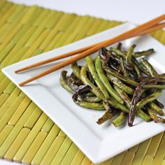 Asian Garlic Green Beans | Recipe | Garlic Green Beans, Green Beans ...