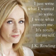 Write for yourself, no one else.