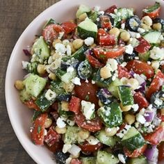 Mediterranean Chickpea Salad by ateaspoonofhappiness