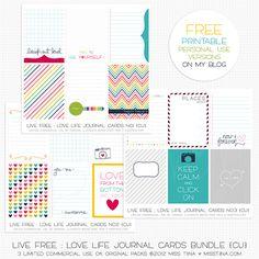 Free printable journal cards.