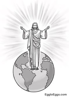 """Jesus is the light of the world - coloring page or graphic (from Egglo Eggs glow in the dark event curriculum). Jesus spoke to them, saying """"I am the light of the world. Whoever follows me will not walk in darkness, but will have the light of life."""" (John 8:12). EggloEggs.com #easter"""