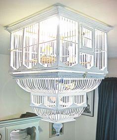 bird cage chandelier shabby chic light
