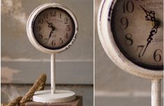 French Flea Market Distressed White Clock - Decor Steals~Enjoy Today's Steal from DECOR STEALS