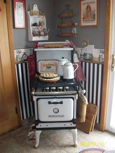 cute little old stove