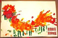 handprint Chinese dragon