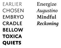 Athelas + Domus Titling. #fonts #typography