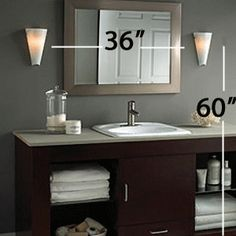How High Do I Hang Wall Sconces : Q with Phoebe: How to Hang Bathroom Sconces Question: We are remodeling a bathroom, and I do not ...