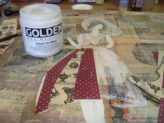 How to make a mixed media and collage art painting