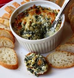 Lower Fat Hot Spinach and Artichoke Dip Recipe
