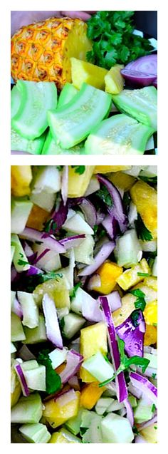 Cucumber Pineapple Salad | reluctantentertainer.com
