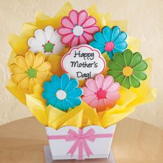 mothers day cookies   Mother's Day Cookie Bouquet