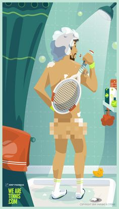 #tenniseveryday :: Shower time :: #RG14 w/ @We Are Tennis