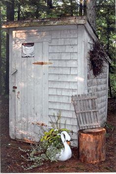 Growing up in the 1940s, outdoor toilets weren't uncommon.