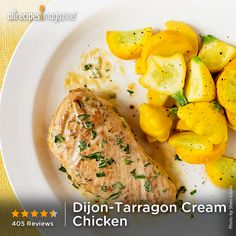 "Dijon-Tarragon Cream Chicken | ""This. Was. OUTSTANDING!! I doubled the ..."