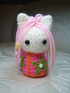 Kokeshi Cats Amigurumi Crochet Pattern