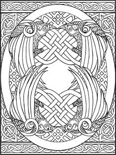 Celtic coloring pages on pinterest celtic mandala for Book of kells coloring pages