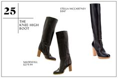The knee high boot. Fasion staple...another trendy boot style is the over-the-knee boot. Also looks great in choclate brown, light brown, or a red-ish brown!