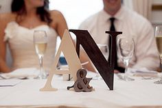Initials at the reception table