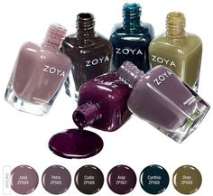 Just discovered Zoya Nail Polish!  It is organic and vegan friendly!  And there are so many pretty colors!