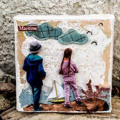 Brits scrappe-vegg: Canvas Corp Brands - Maritime Mini Canvas - #4x4challenge #canvascorp #7gypsies #mixedmedia #canvascorpcrew