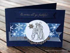 Stampin' Up! All Ye Faithful Christmas Card