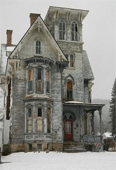 Beautiful abandoned old house